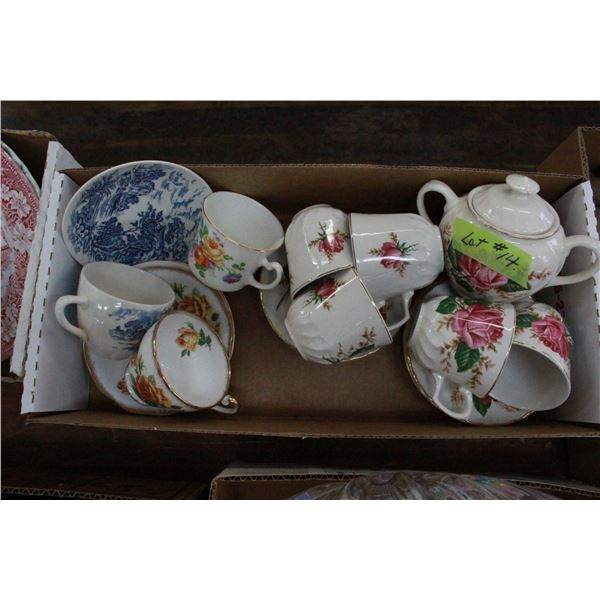 Cups, Saucers & Sugar Bowl (assorted)