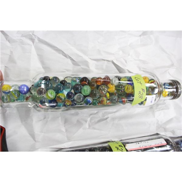 Glass Rolling Pin with 220 Marbles