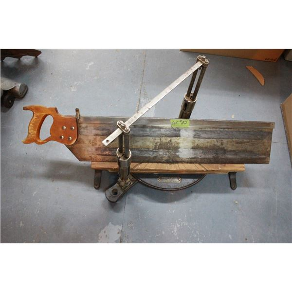 """Stanley Mitre Box """"frame #3"""" complete with saw"""