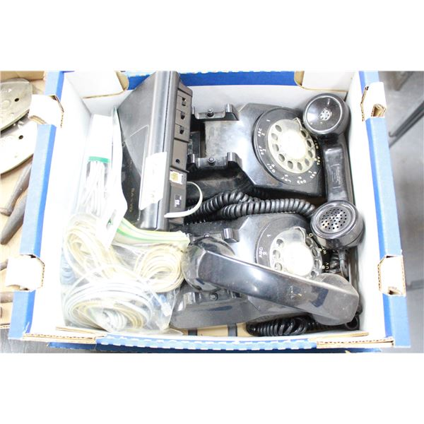 2 Rotary Dial Telephone answering machine & extra wire