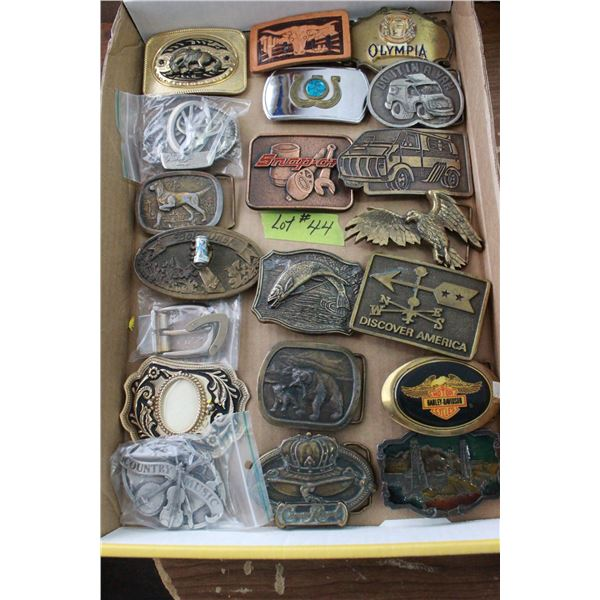 Collection of 20 Belt Buckles