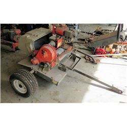 Towable Utility Cart & Traction Clutch Control Machine w/ Honda Engine