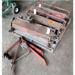 Qty 3 Mower Roller Attachments & Tow Fittings