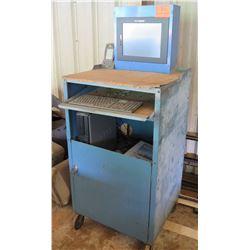 Rolling Metal Blue Jobsite Computer & Undercabinet Storage