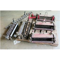 Pallet w/ Multiple Mower Attachments: Rollers, Multi Tine Slicer, etc