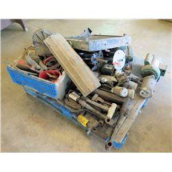 Pallet Misc Tools, Dayton Farm Motor, Radiator, Parts, etc