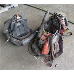 Qty 3 Backpack Leaf Blowers: BL 4500, etc