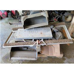 Pallet w/ COMM Diamond Plate Metal Step Riser, Attachments, etc