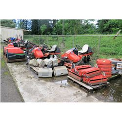 Jacobsen/Cushman Mowers, Spreaders, Rollers, Attachments, etc (for parts) - See video for details