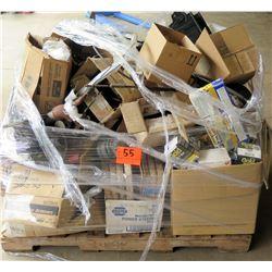 Pallet Misc Parts, Filters, Cases of Oil, Pump, etc
