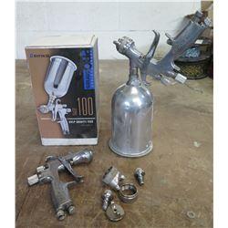 Binks Pro Series SV100 HVLP Gravity Feed Paint Spray Gun w/ Cup in Box