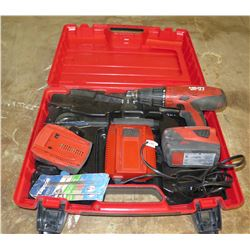 Hilti SFH 18A Hammer Drill Driver w/ Charger & Accessories in Hard Case