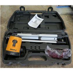 Johnson 40-0912 Cross Line Laser Level & 40-6880 Tripod in Hard Case