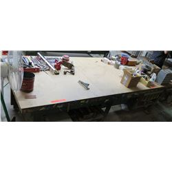 "Shop Table w/ Undershelves 121""x48""x33"" (table only)"