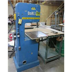 "DoAll 16"" Band Saw 60 Cycle 12"" Blade Saw Model LHV.470121 w/ Blades"