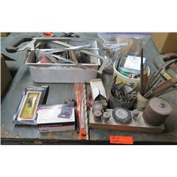 Misc Tools: Saws, Drill Bits, Hole Cutter, 8 Piece Cutting Tool, Files, etc