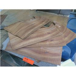 "Qty 5 Koa Veneer Shets 19"" Lengths"