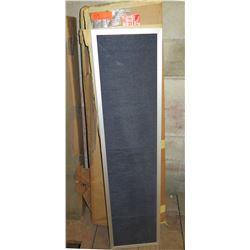 Qty 7 Silver Framed Black Slatted Changeable Letter Board
