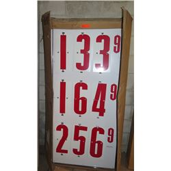 Modern Metal Products White/Red Changeable Gas Price Signs