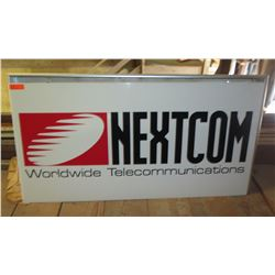 Nextcom Worldwide Telecommunications Sign w/ Backlighting