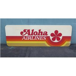 "Vintage Sign: Aloha Airlines w/ Wall Mounting 72""x24"""