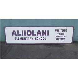 Sign: Aliiolani Elementary School 93 x24