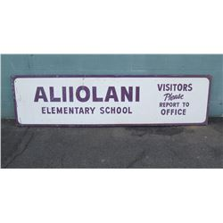 "Sign: Aliiolani Elementary School 93""x24"""