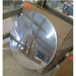"Rounded Convex 30"" Mirror in Box"