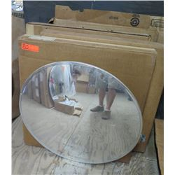 "Qty 4 Rounded Convex 30"" Mirrors in Box"