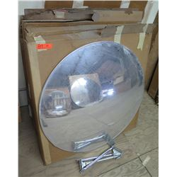"Qty 5 Rounded Convex 36"" Mirrors in Box"