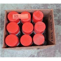 Qty 9 Loose Red Super Strip Power Paint Cartridges