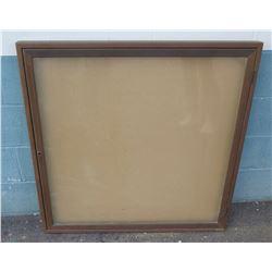 "Wood Framed Display Board 36""x36"""
