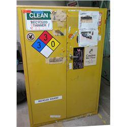 """Metal Yellow Flammable 2 Door Storage Cabinet 43""""x18""""x65"""""""