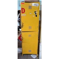 """Yellow Metal 2-Door Storage Cabinet 24""""x18""""x78"""" & Contents"""