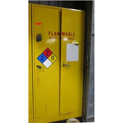"""Metal Yellow Flammable 2-Door Storage Cabinet 36""""x18""""x78"""""""