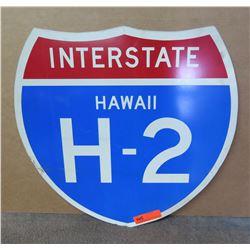 Sign: Interstate Hawaii H-2 (Shield Shape)