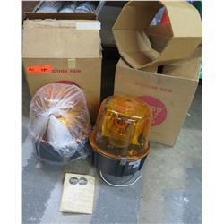 Qty 2 Tripp Lite ST-110F High Power Electronic Strobe Lights Amber
