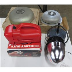 Qty 2 Tripp Lite Alarm Bells Model CVA/BKA, Eveready Heavy Duty Flashlight, etc
