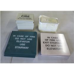 """Multiple Misc Size """"In Case of Fire, Use Stairway"""" Signs"""