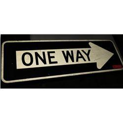 Sign: One Way Black White Arrow
