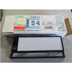 Illuminated Address Light in Box