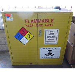 "Metal Yellow Flammable 2 Door Storage Cabinet 36""x18""x78"" & Thinners"