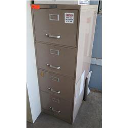 Beige Metal 4 Drawer Filing Cabinet