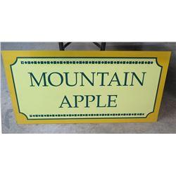 "Metal Sign: Mountain Apple 36""x13"""
