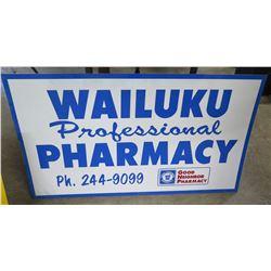 "Metal Sign: Wailuku Professional Pharmacy 42""x24"""