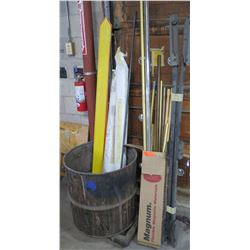 Roll-Up Blinds, Wood Curtain Hangers, etc