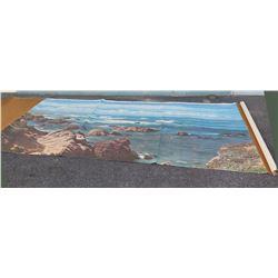 Very Large Ocean Scene Canvas Art Work (over 6 foot long)