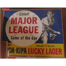 """Vintage Paper Sign: Major League Game of the Day 26""""x21"""""""