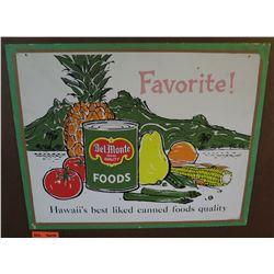 "Vintage Paper Sign: Del Monte Foods 26""x21"""