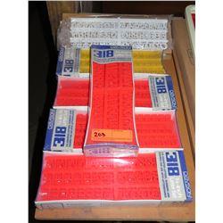 "Qty 6 Boxes Davson 318 3/4"" Letter Sets"